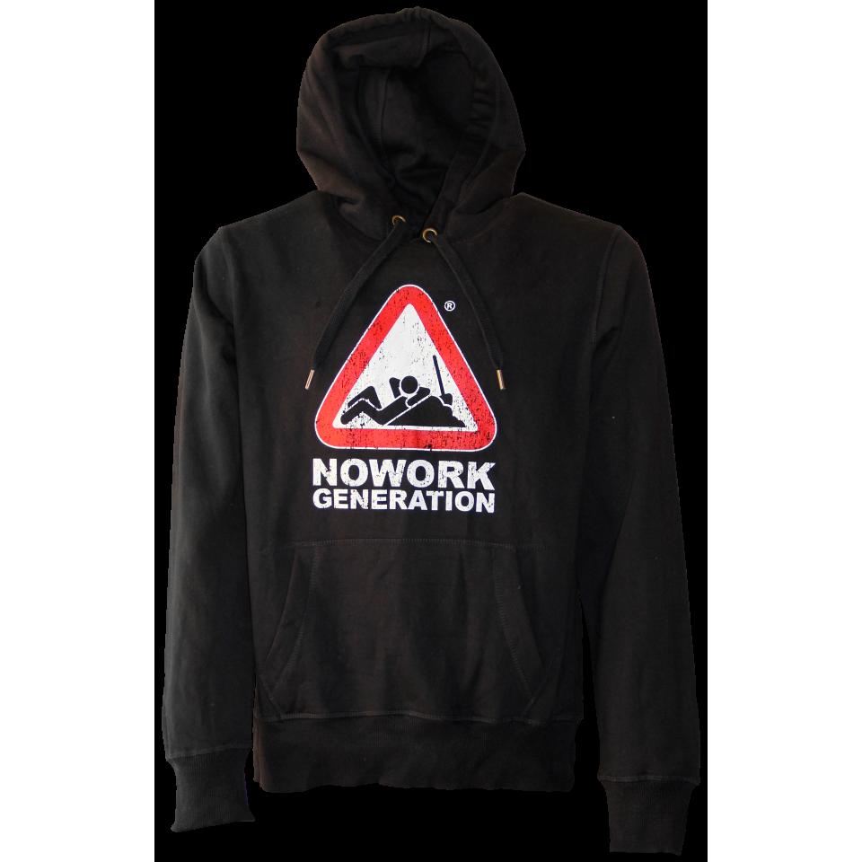 NOWORK GENERATION FELPA NERA CAPPUCCIO